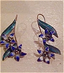 Enamel flower earrings