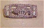 Art Deco pin with rhinestones