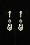 Art deco earrings with rhinestones