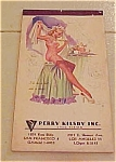 Click here to enlarge image and see more about item x1215: Elliott pin up notepad - 1950