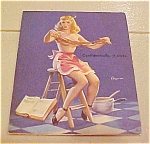 Click here to enlarge image and see more about item x1225: Elvgren pin up dipsy doodle calendar