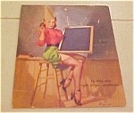 Click here to enlarge image and see more about item x1227: Elvgren dipsy doodle pinup calendar