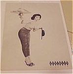 Click here to enlarge image and see more about item x1230: Geringer Lighting Advertising Pinup Card