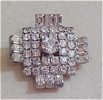 Kramer of NY rhinestone pin
