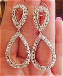 Contemporary rhinestone earrings