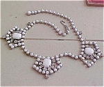 White rhinestone necklace