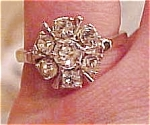Sterling rhinestone ring