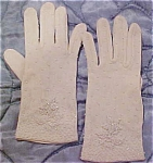white gloves with white beads