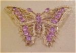 Click here to enlarge image and see more about item x1455: Butterfly rhinestone pin