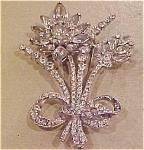 Coro flower rhinestone pin