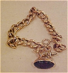 Click to view larger image of Victorian bracelet with dog fob (Image1)