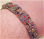 Czechoslovakian rhinestone bracelet