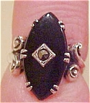 Sterling ring with marcasite