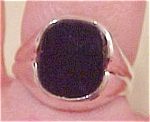 Sterling ring with black onyx