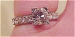 Sterling ring with rhinestones