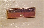 Gold filled ruler pin with rhinestone