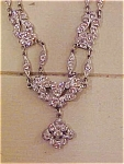 Click to view larger image of Edwardian style necklace w/rhinestones (Image1)
