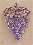Grape dress clip with rhinestones