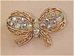 Coro Bow pin with rhinestones
