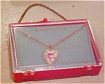 Heart necklace in presentation box