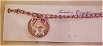 Click here to enlarge image and see more about item x1582: Flamingo charm bracelet