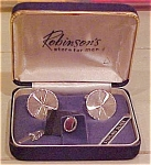 Sterling cufflinks and tie tack  in box