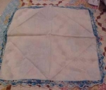 Handkerchief with crocheted edges