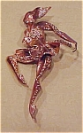 Retro sterling vermeil dancer pin