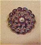 Metal button with rhinestone