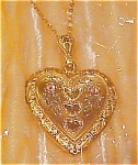 gold filled heart locket