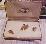 Click to view larger image of Tru Kay pin and earring set (Image1)
