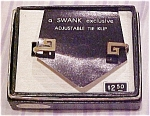 Swank 1960's tie bar in box