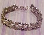 Art deco bracelet w/rhinestones & enamel
