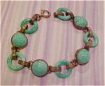 Czechoslovakian bracelet with chrysoprase