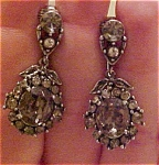 Hollycraft grey rhinestone earrings