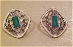 Marcasite and enamel earrings