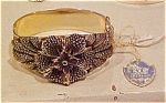 Click to view larger image of Whiting & Davis hinged bangle 1930's (Image1)