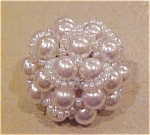 Faux pearl button