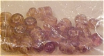 Brown glass beads