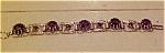 Silvertone  & Amethyst rhinestone bracelet