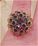 Woven string with rhinestone ring