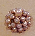 Faux pearl metal button