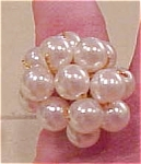 woven cord ring with faux pearls