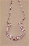Sterling rhinestone horseshoe necklace