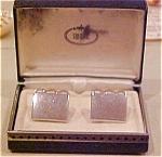 Swank silvertone cufflinks