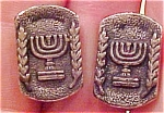 Earrings with menorah design