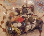 Bag of assorted buttons