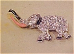 Elephant pin with rhinestones & enamel
