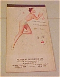 Click here to enlarge image and see more about item x2311: Munson pinup notepad 1947