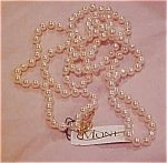 Monet pink faux pearl necklace